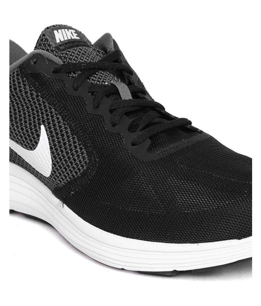 ... Nike NIKE REVOLUTION 3 Black Running Shoes ...