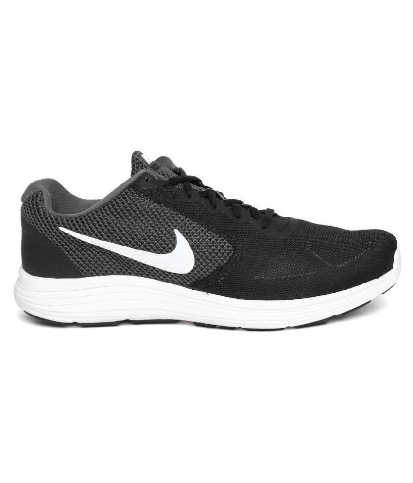 5064c7d5029 Nike NIKE REVOLUTION 3 Black Running Shoes - Buy Nike NIKE ...