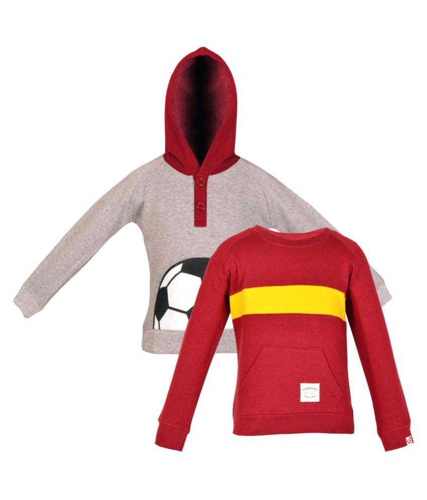 Gkidz Multicolour Fleece Sweatshirts - Pack of 2