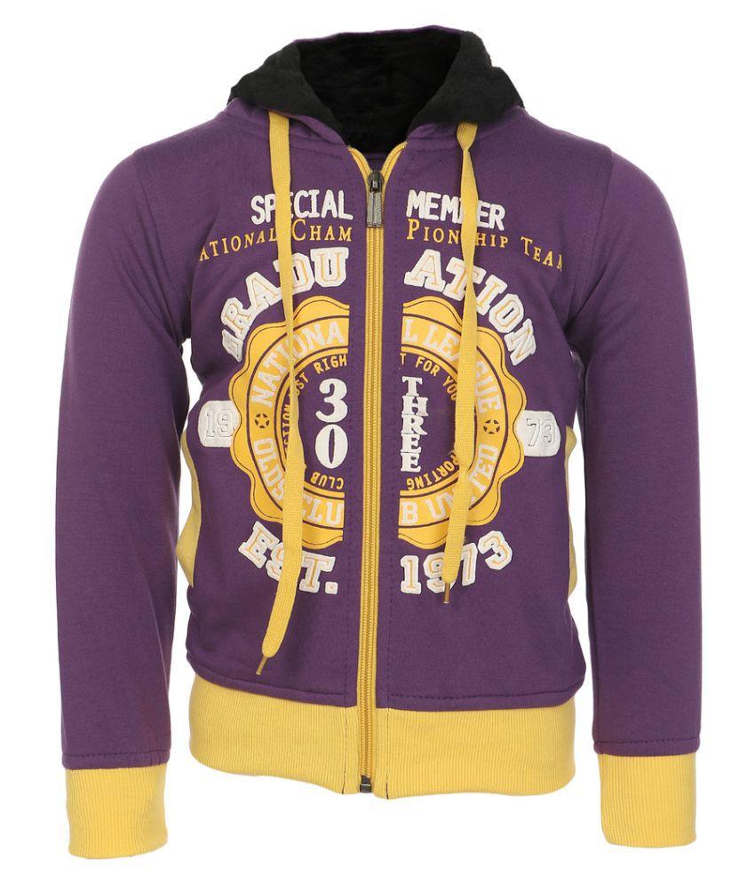 Haig-Dot Purple Hooded Sweatshirts for Girls