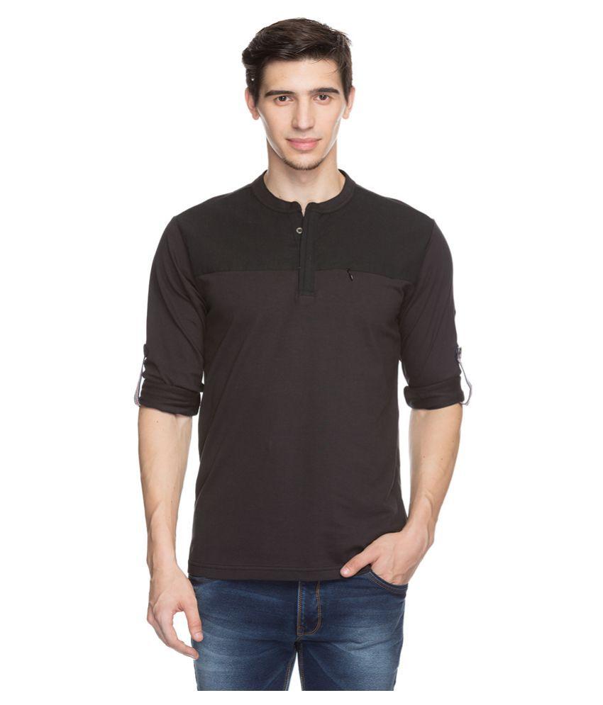 Status Quo Purple Henley T-Shirt