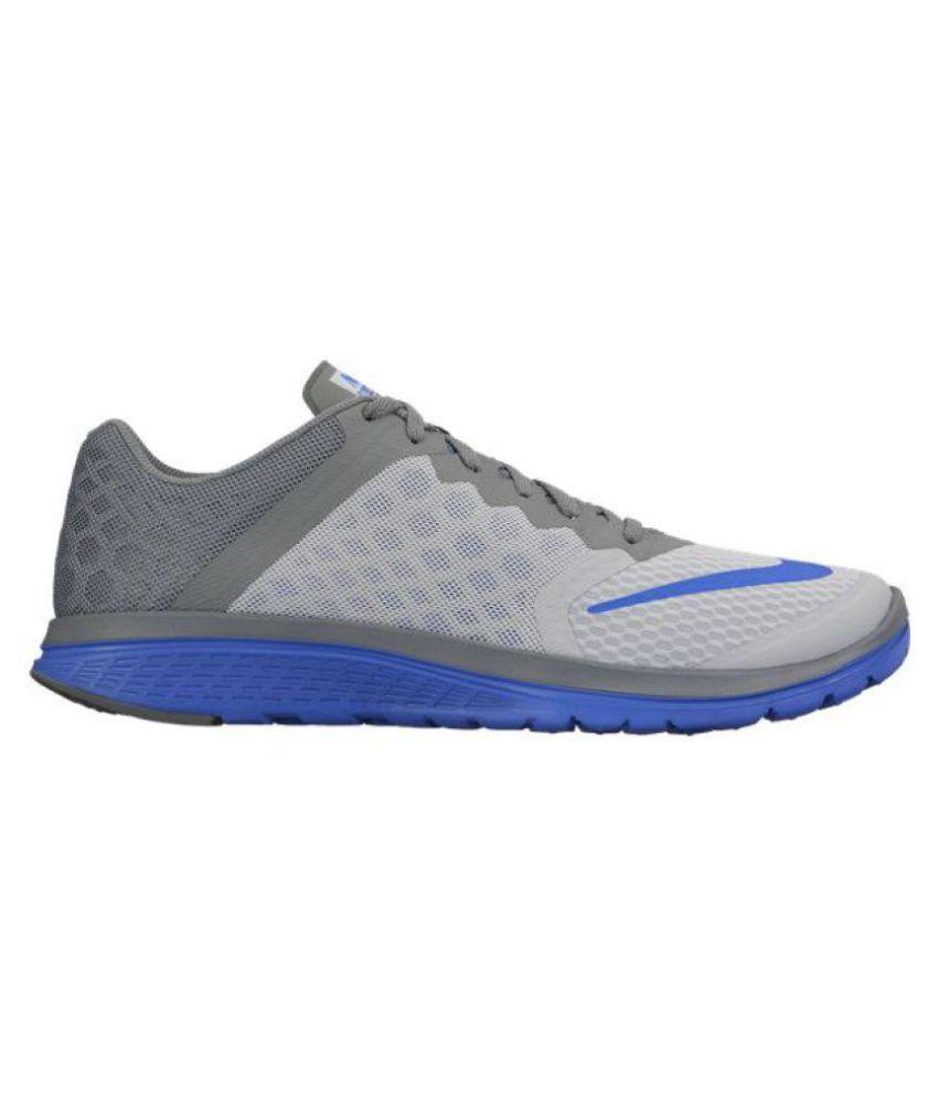 watch 7413e e652b Nike NIKE FS LITE RUN 3 Gray Running Shoes