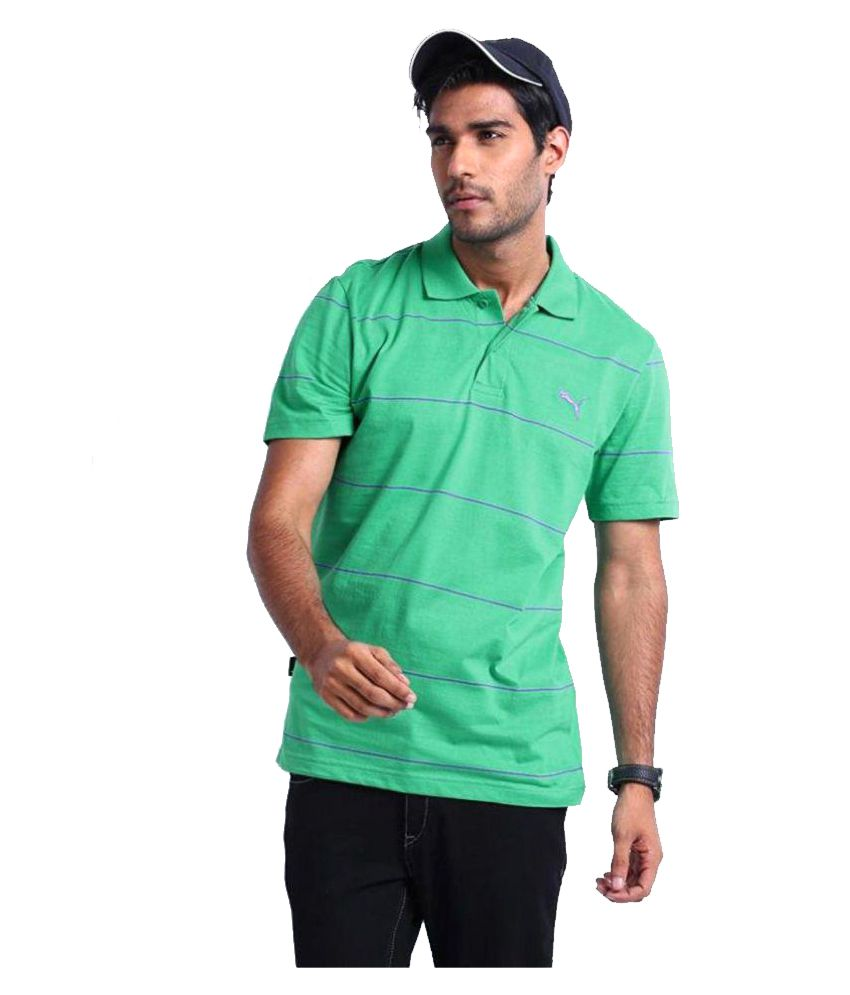 Puma Green Regular Fit Polo T Shirt