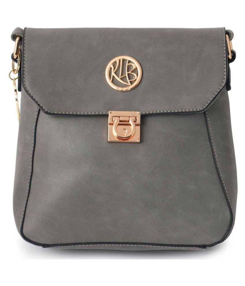 Stylathon Gray P.U. Handbags Accessories