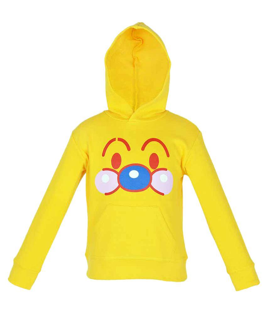 Gkidz Yellow Full Sleeve Hooded Sweatshirt