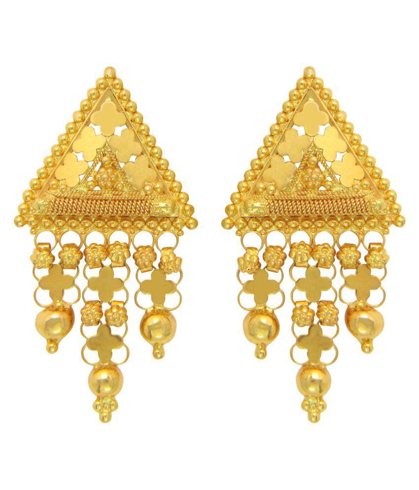 Popleys 22k BIS Hallmarked Gold Hangings Earrings
