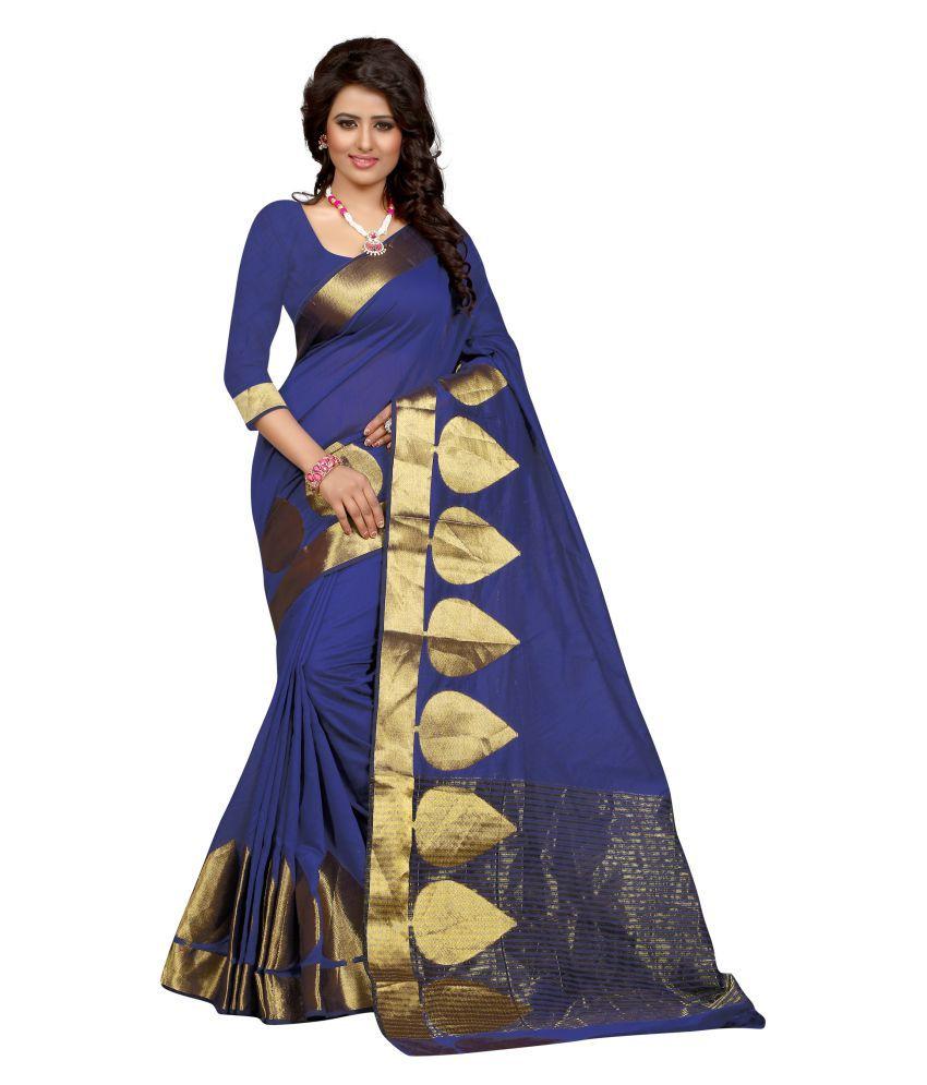 Sumaaya Blue Art Silk Saree