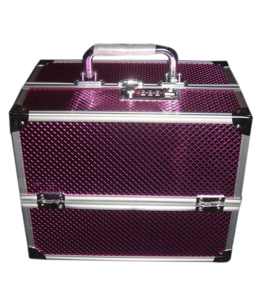 Bonanza Pink Aluminium Makeup Jewelry Box