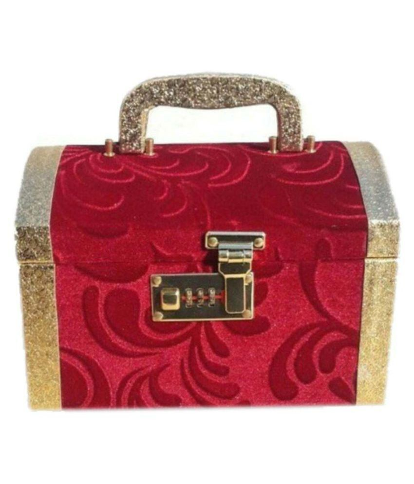 Bonanza Red Wooden Jewellery Box