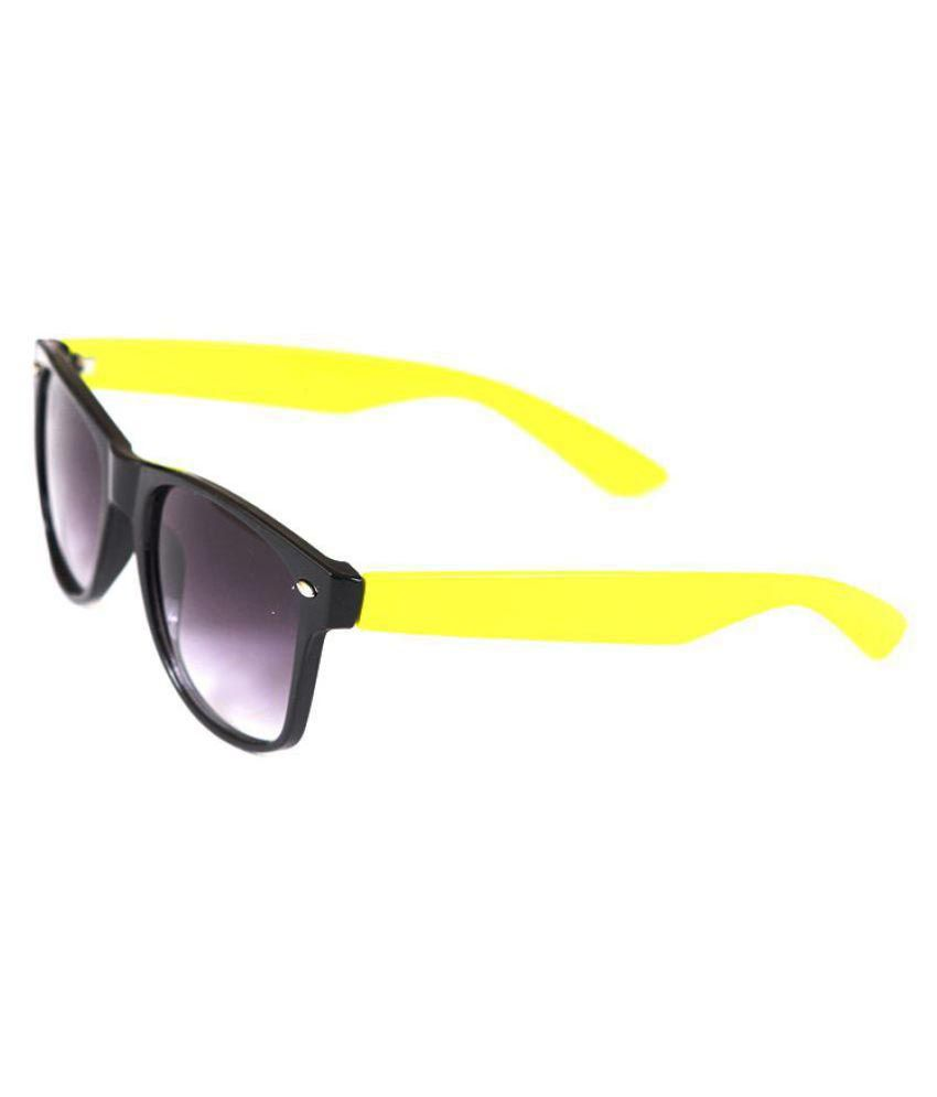 Elligator Black Wayfarer Sunglasses ( ELG_Ylw001 )