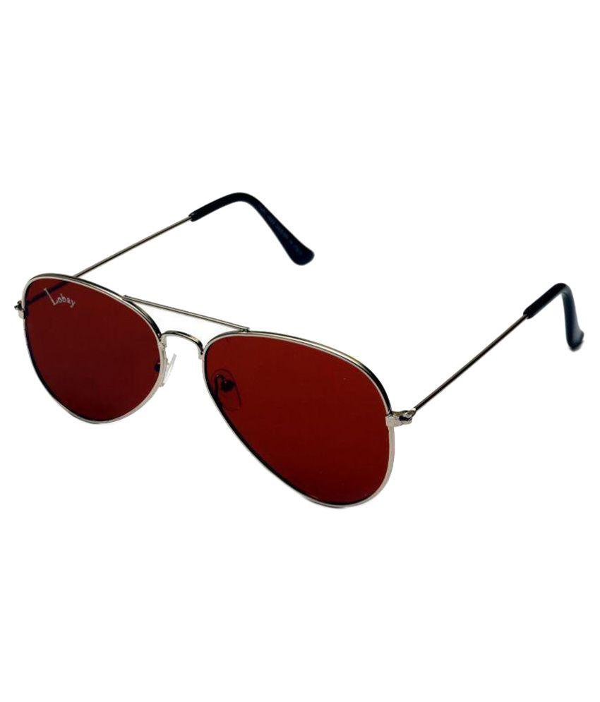 Lobay Maroon Aviator Sunglasses ( lby-17 )
