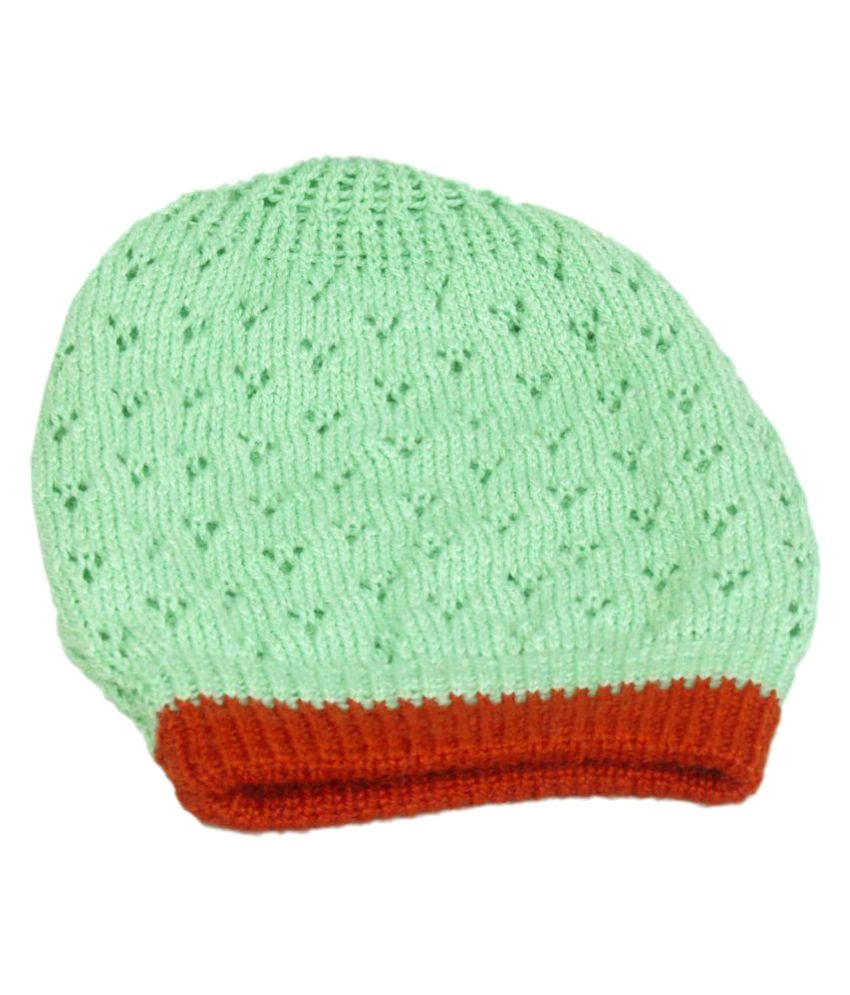 a9247b61fc9 VR Designers Unisex Vibrant Green Handmade Beanie Cap  Buy Online at Low  Price in India - Snapdeal