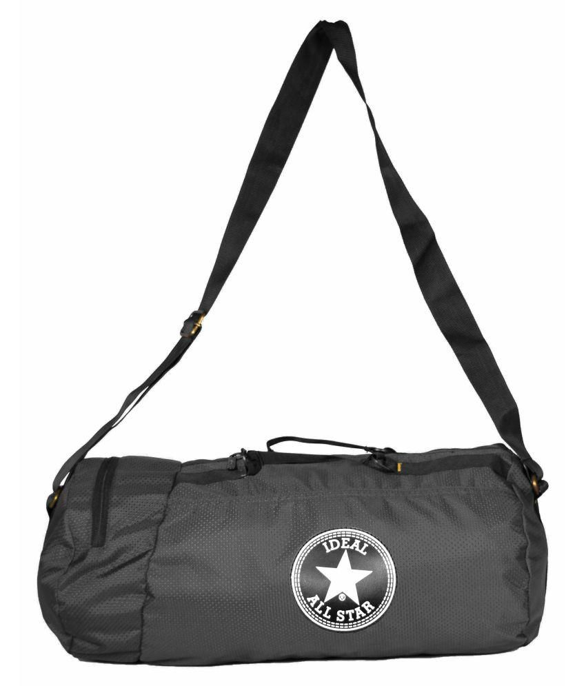 Ideal Grey and Black Gym Bag