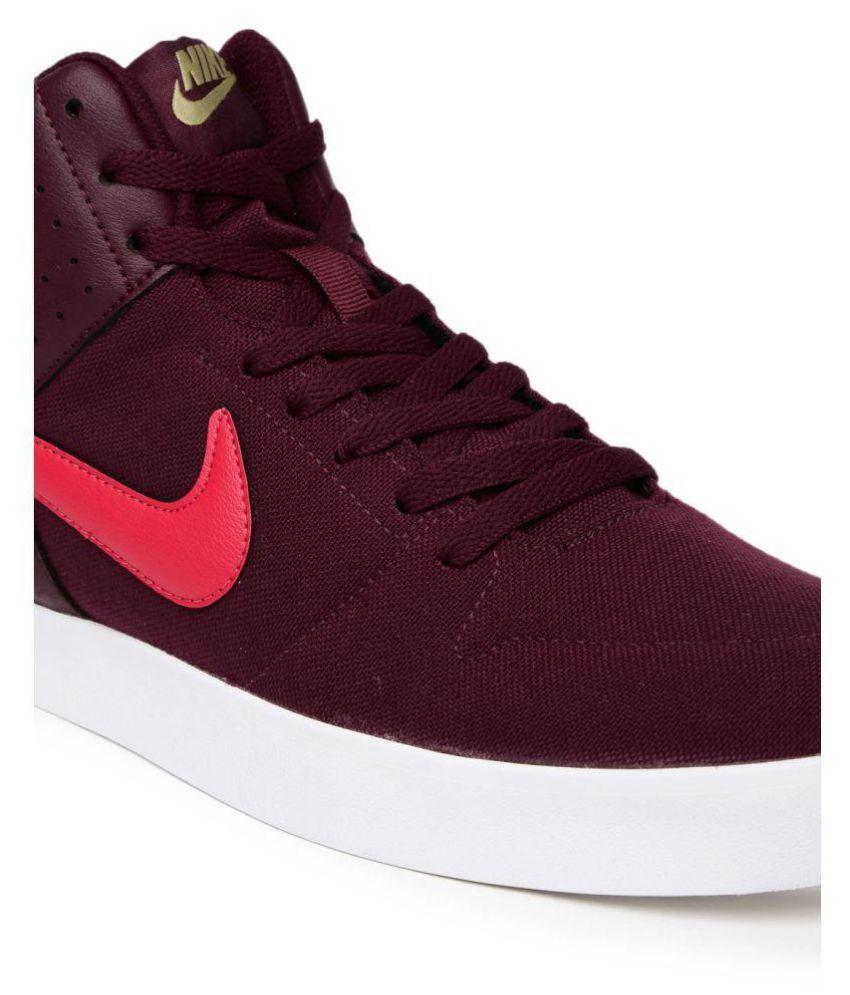 ... Nike Liteforce III Mid Sneakers Maroon Casual Shoes