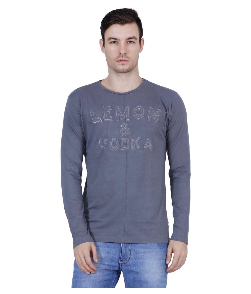 Lemon & Vodka Grey Round T-Shirt