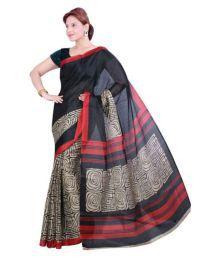 Bhagalpuri Silk Black Bhagalpuri Silk Saree