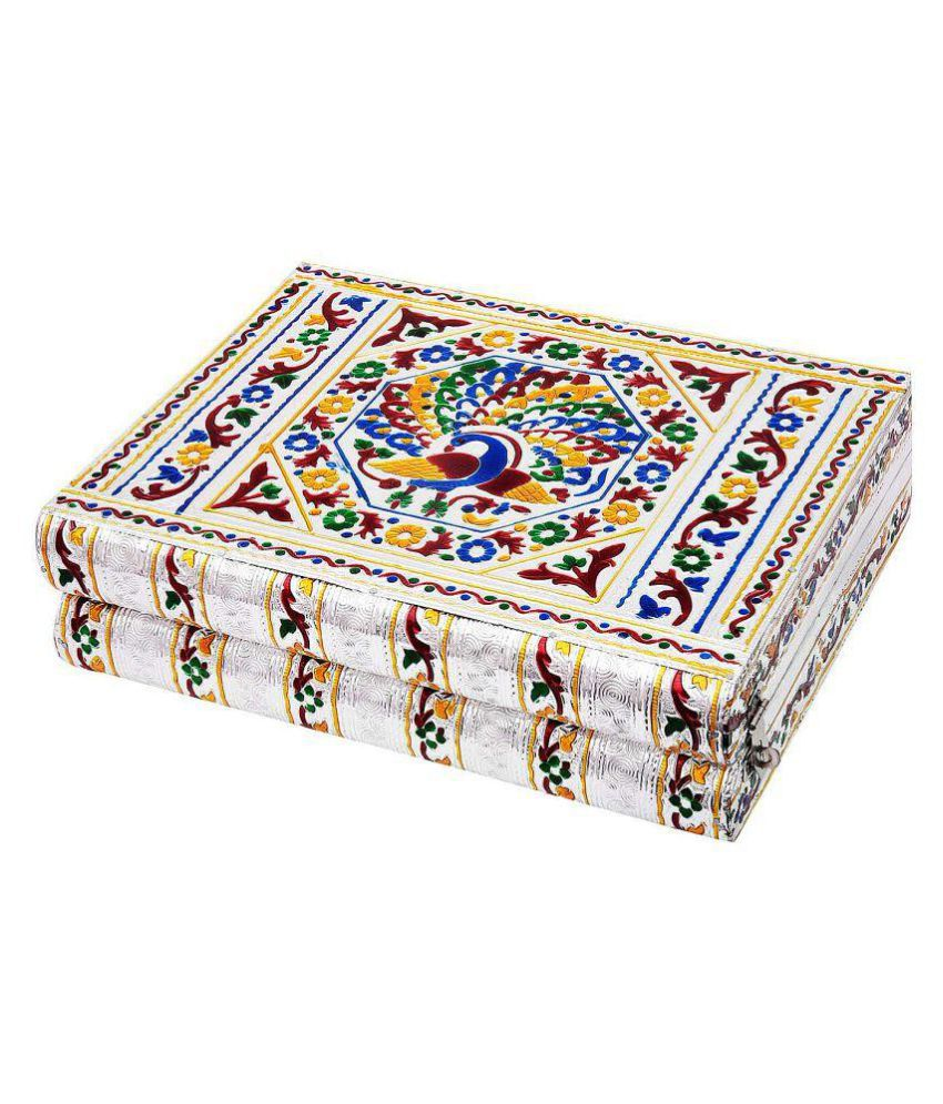 Chesta Enterprises Colorful Mayur Meenakari Work Red Jewellery Box