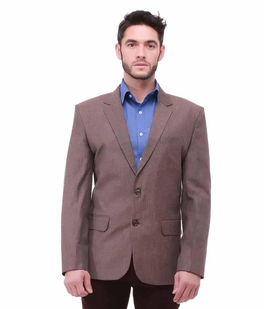 Jogur Brown Solid Casual Blazers
