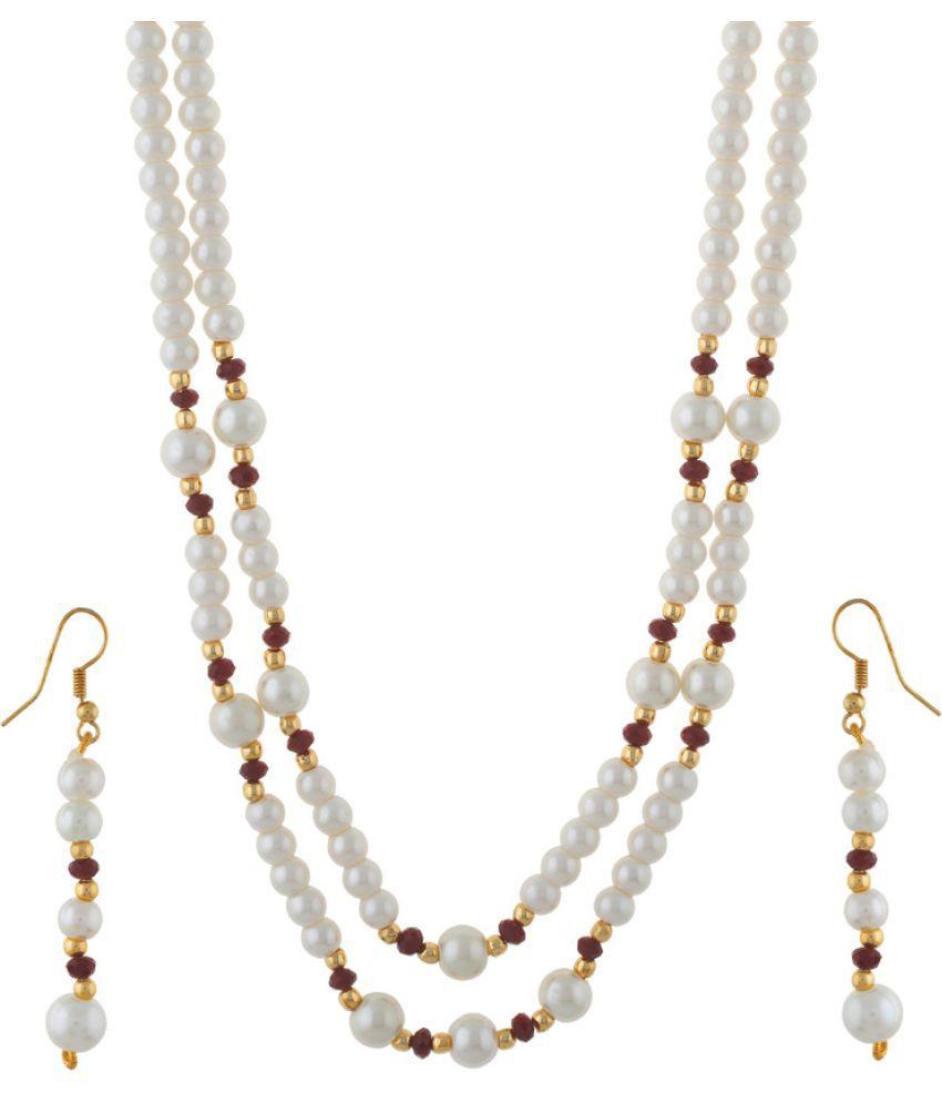 Vishakapearlsandjewellers White Necklace Set