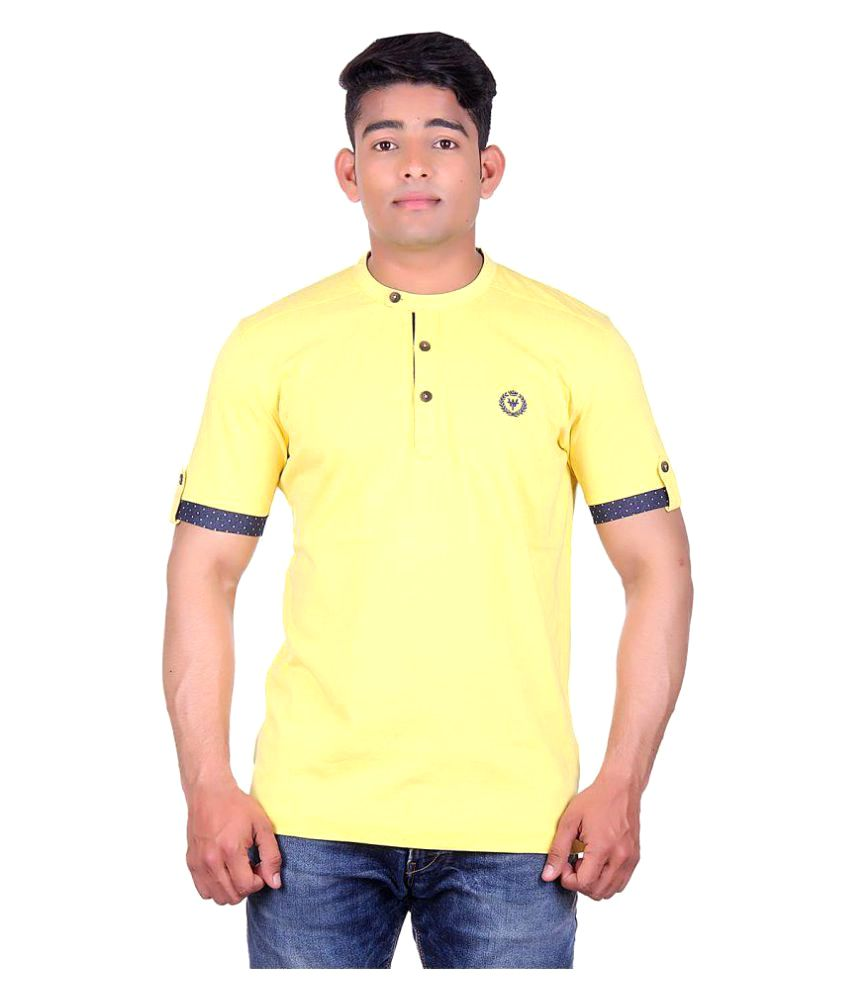 Wilkins & Tuscany Yellow Henley T-Shirt