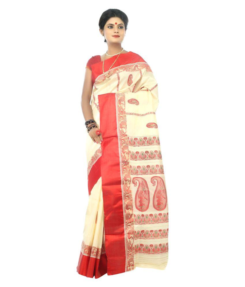 Garobini Multicoloured Cotton Saree