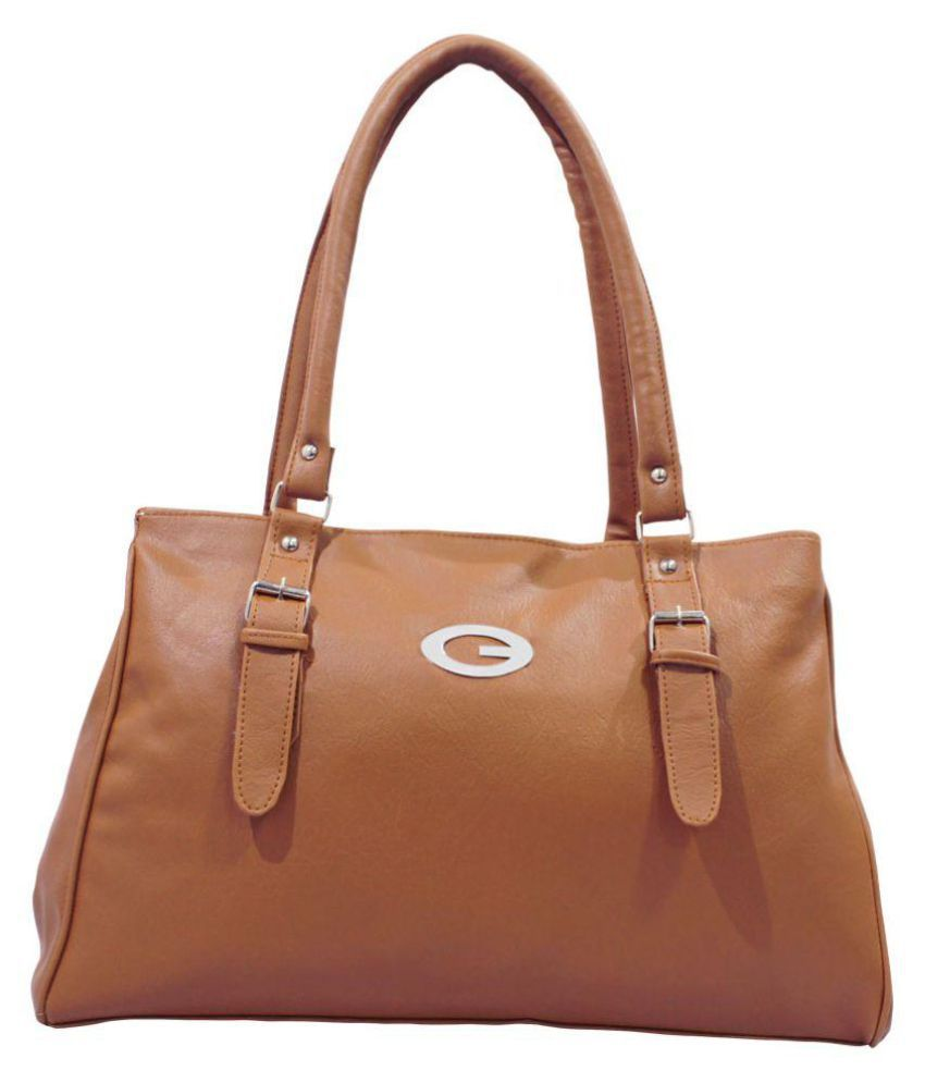 Imagine Products Brown P.U. Shoulder Bag