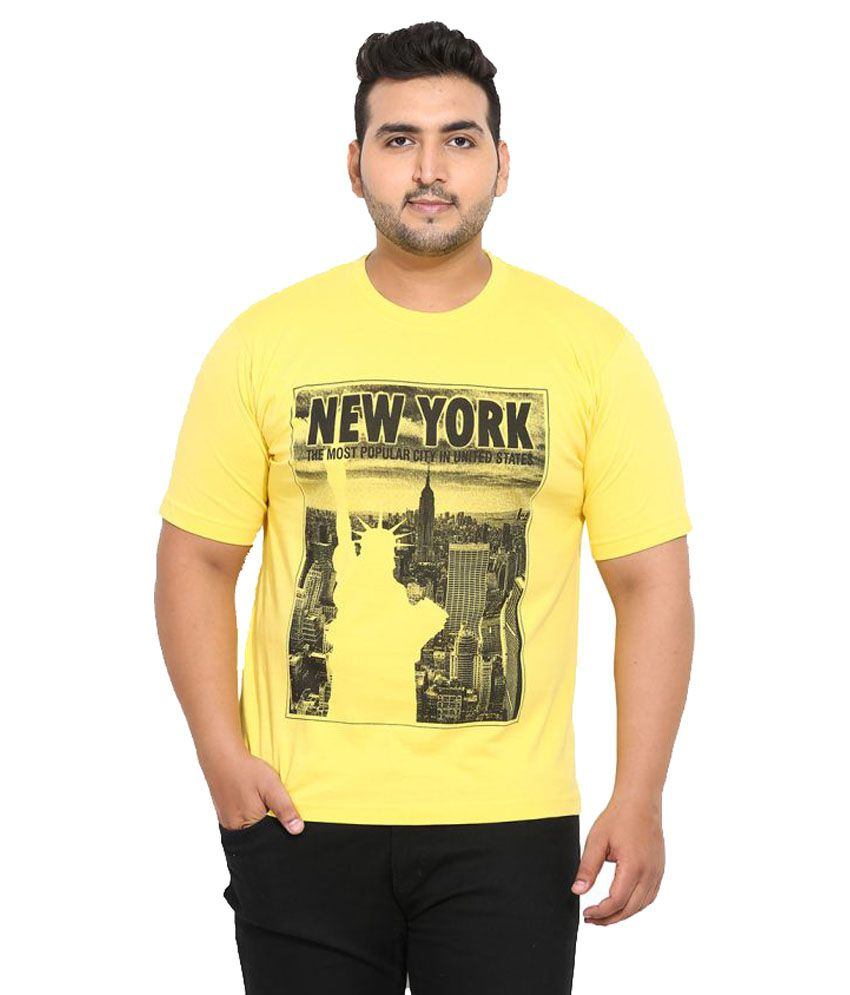 John Pride Yellow Round T-Shirt