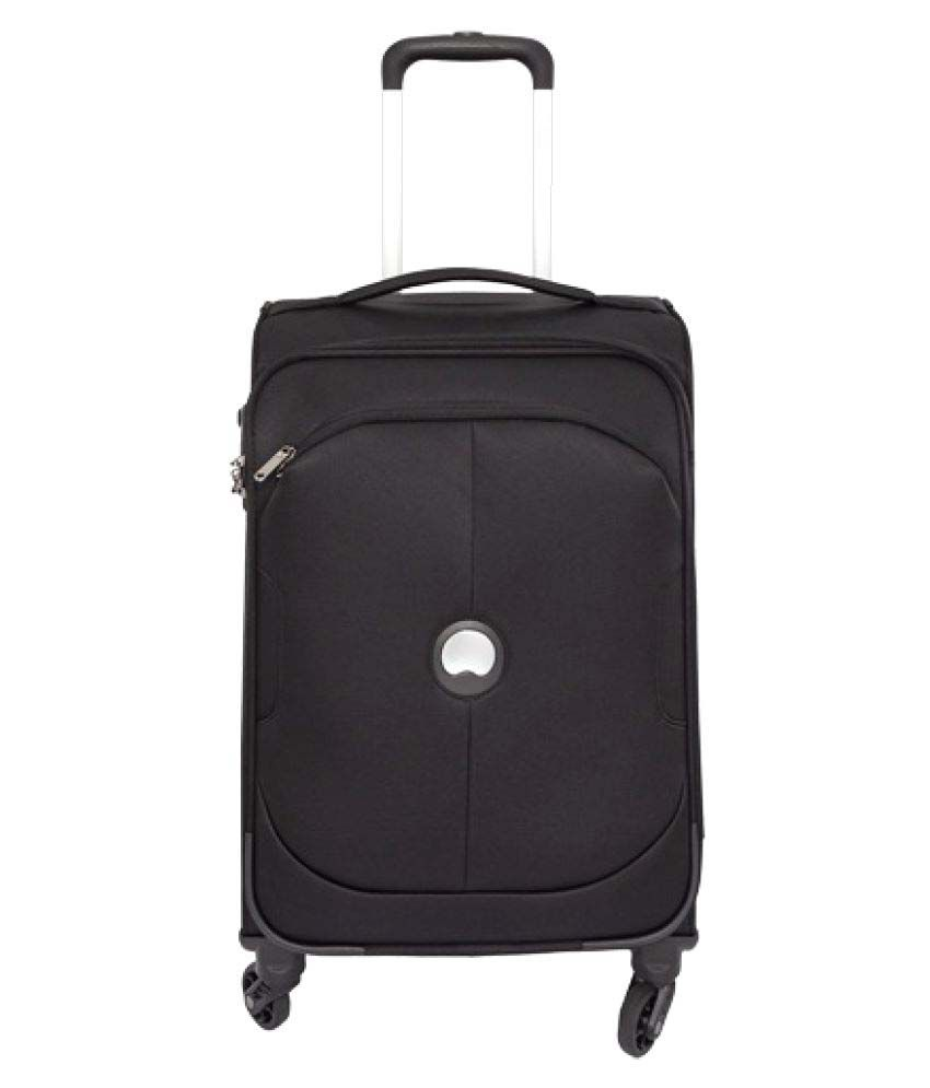 delsey black s below 60cm cabin soft luggage snapdeal