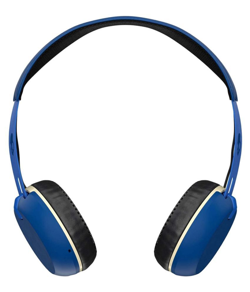 920128601c0 Skullcandy S5 GBW J546 On Ear Wireless Headphones With Mic Blue available  at SnapDeal for Rs