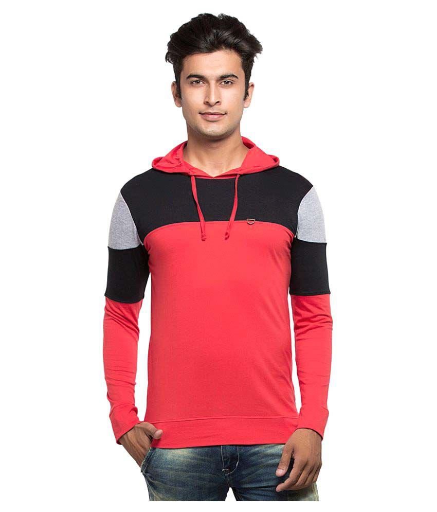 Maniac Red Hooded T-Shirt