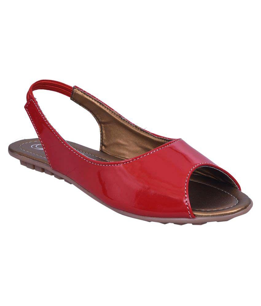 Jade Red Flats