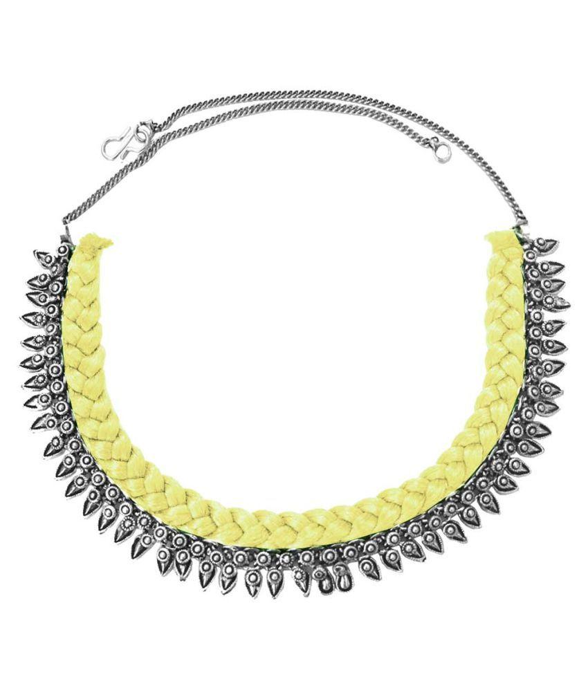 Pihu Multicolor Metal OxidisedDesign Necklace