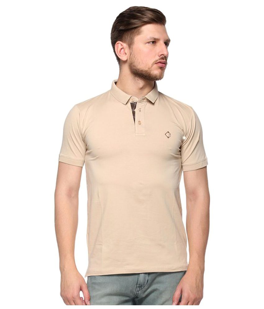 8024d03040f7 Colors & Blends Beige Slim Fit Polo T Shirt - Buy Colors & Blends Beige  Slim Fit Polo T Shirt Online at Low Price - Snapdeal.com
