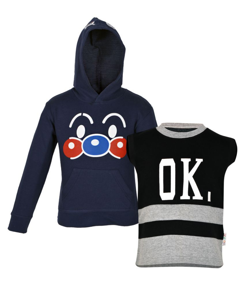 Gkidz Multicolor Fleece Sweatshirt- Pack Of 2