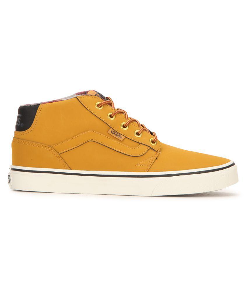 27d5b1fedd Vans Chapman Mid Sneakers Yellow Casual Shoes - Buy Vans Chapman Mid ...