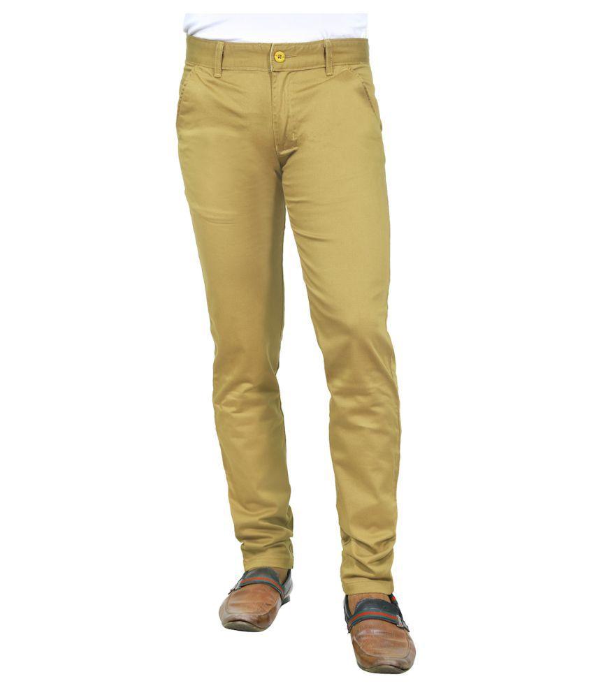 Burbn Khaki Slim Flat Trouser