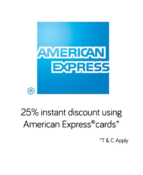 Snapdeal: Get 25% Instant Discount Using American Express Cards