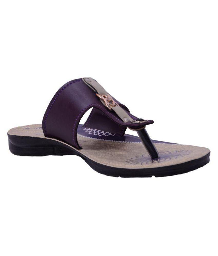Pu-Prachi Purple Slippers