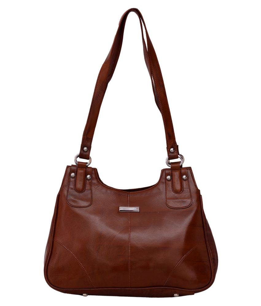 Rehan's Brown Pure Leather Shoulder Bag