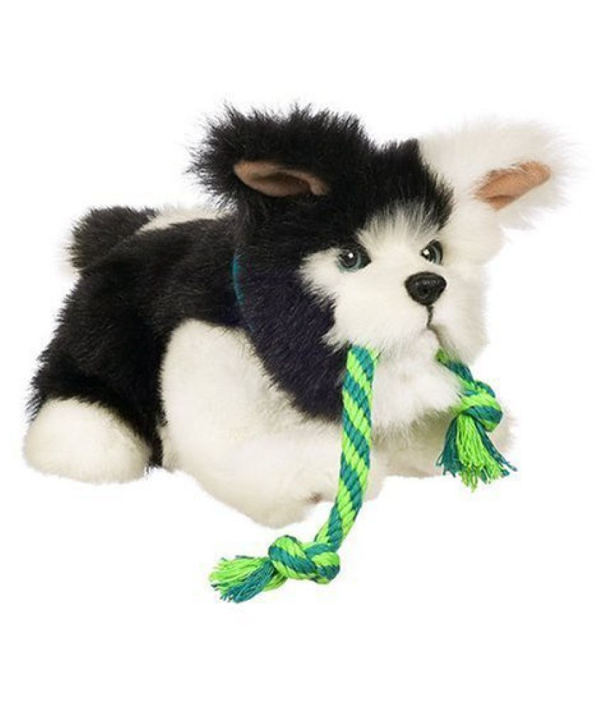 Hasbro FurReal Friends Tuggin Pup - Black and White kids educational playing toy
