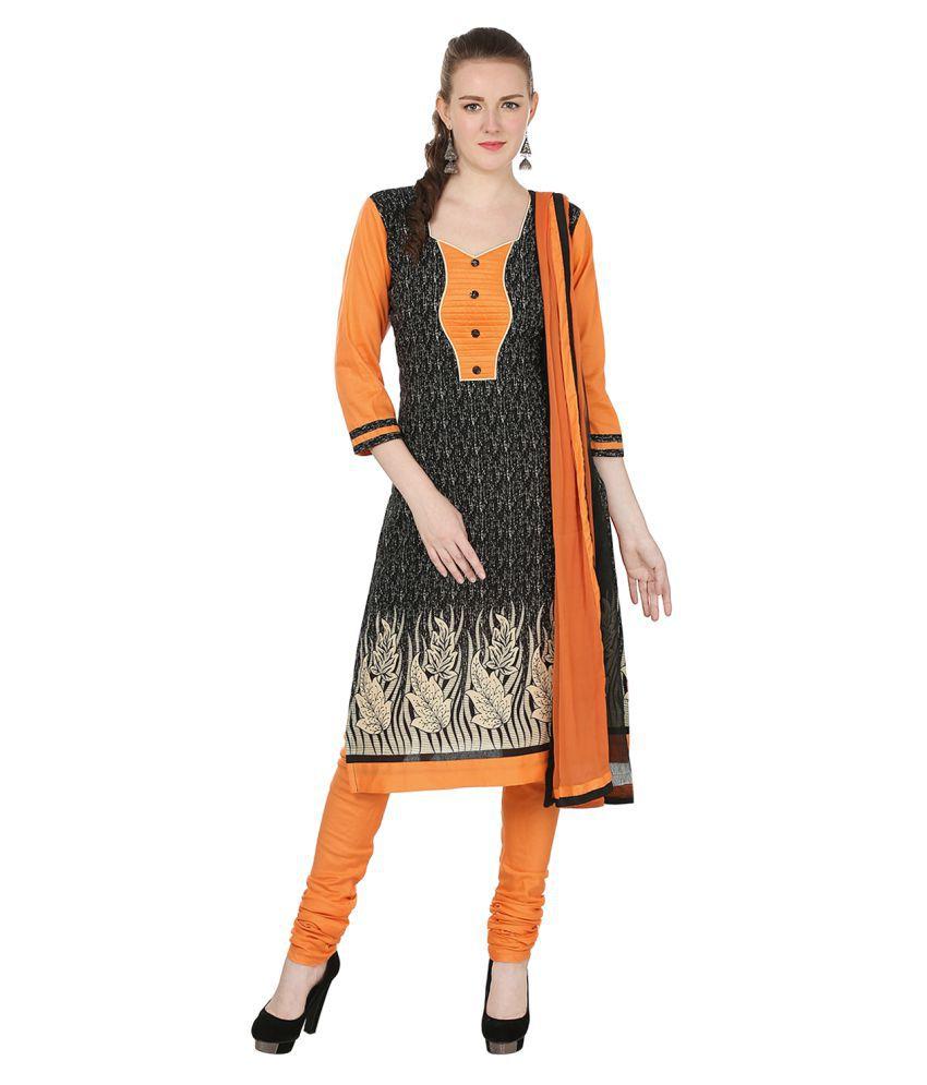 Lamizor Multicoloured Cotton Straight Stitched Suit