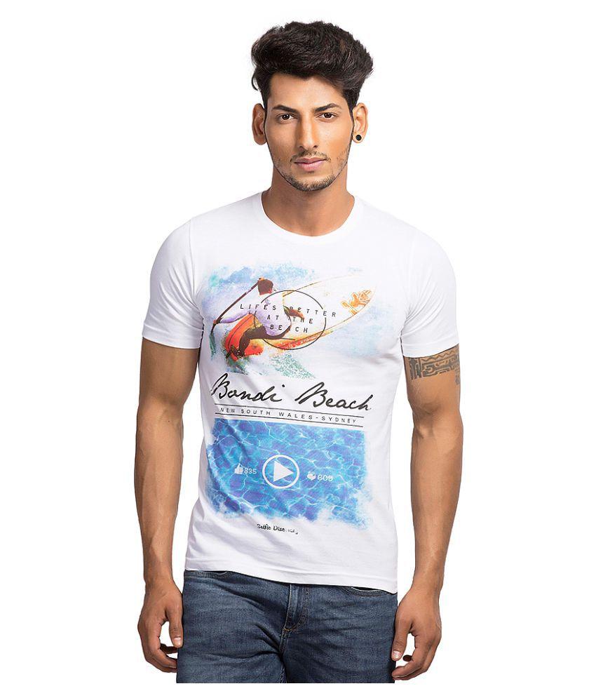 Maniac White Round T-Shirt