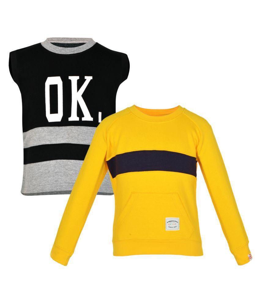 Gkidz Girls Multi Color Sweatshirt - Pack of 2