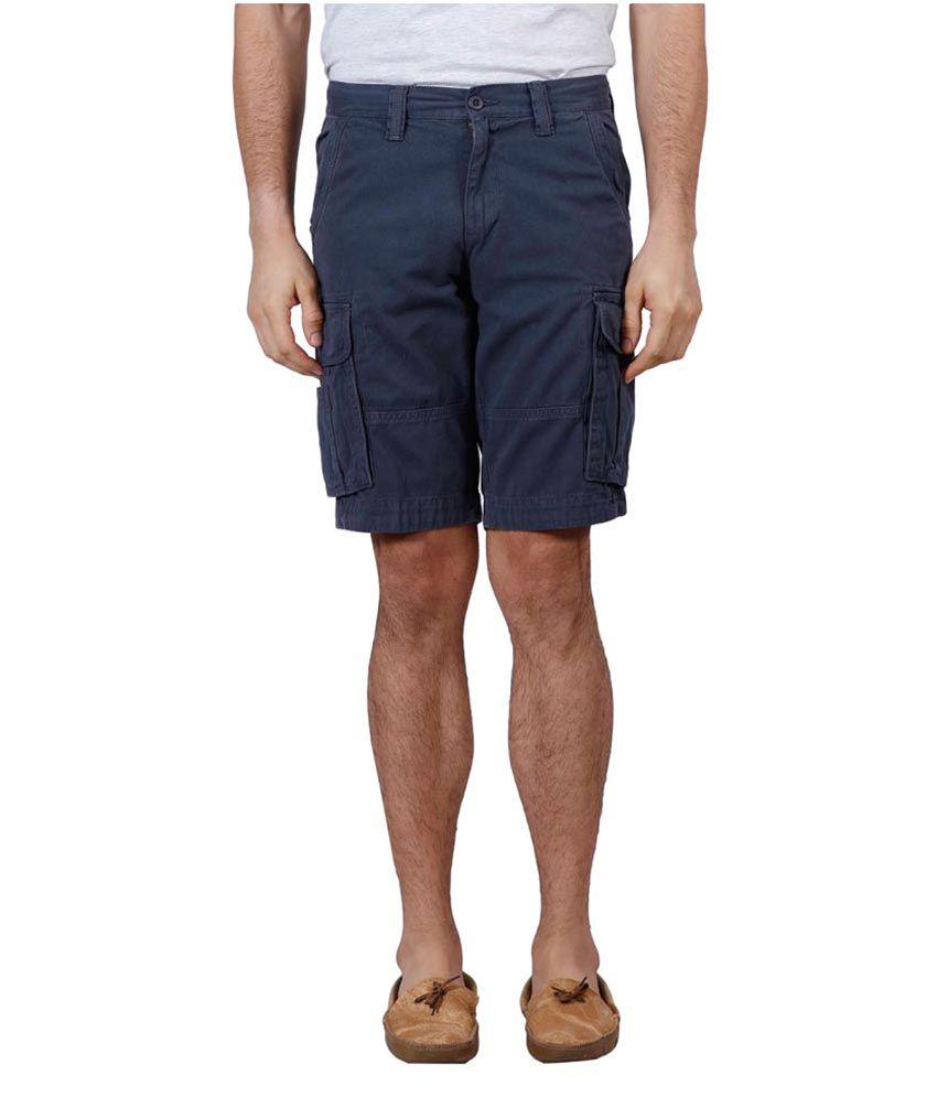 J-Stitch Blue Shorts