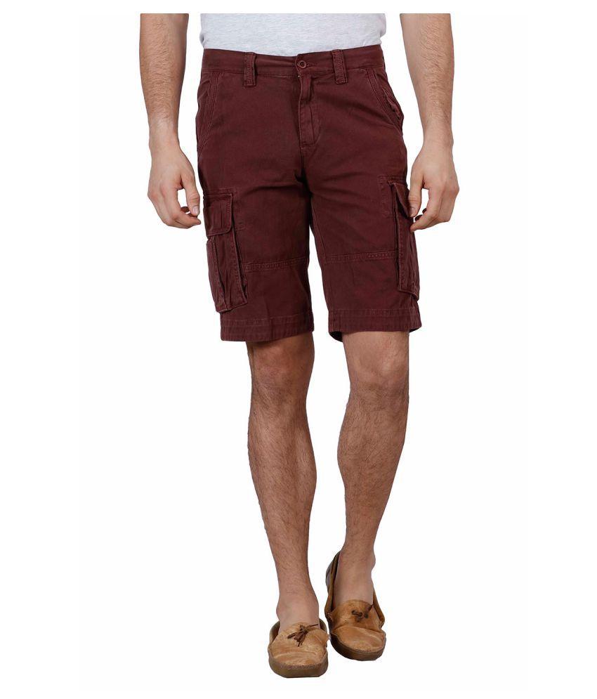 J-Stitch Brown Shorts