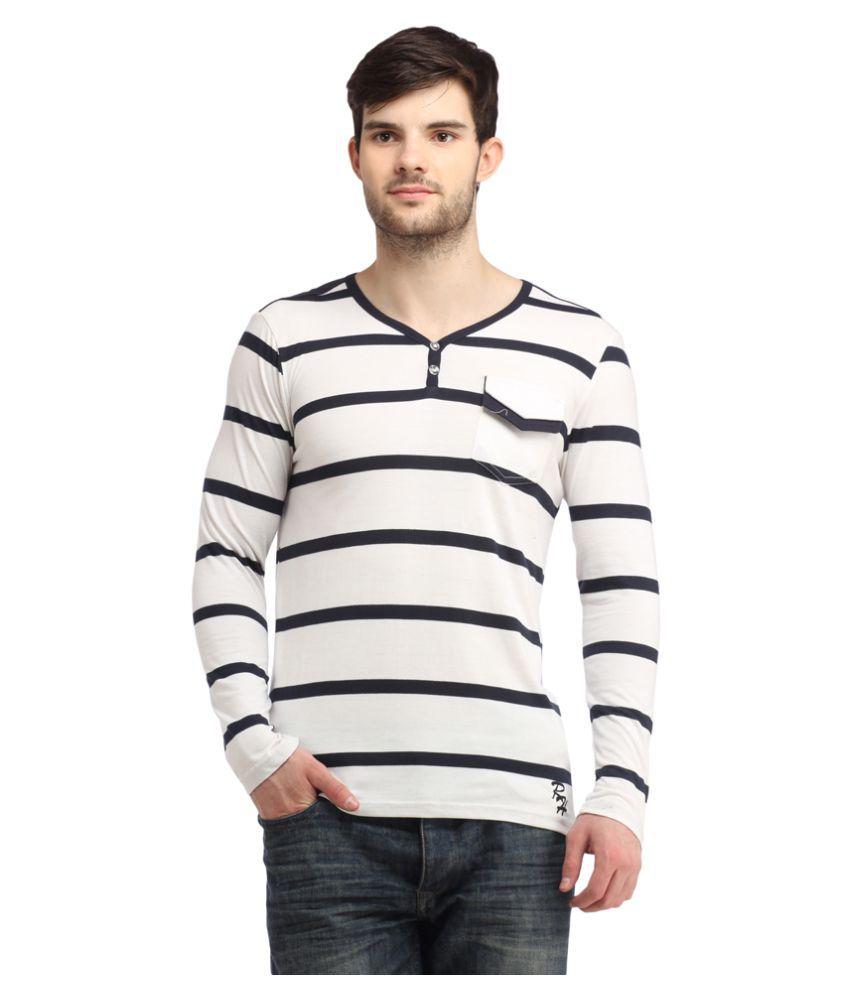 Rockhard White Henley T-Shirt