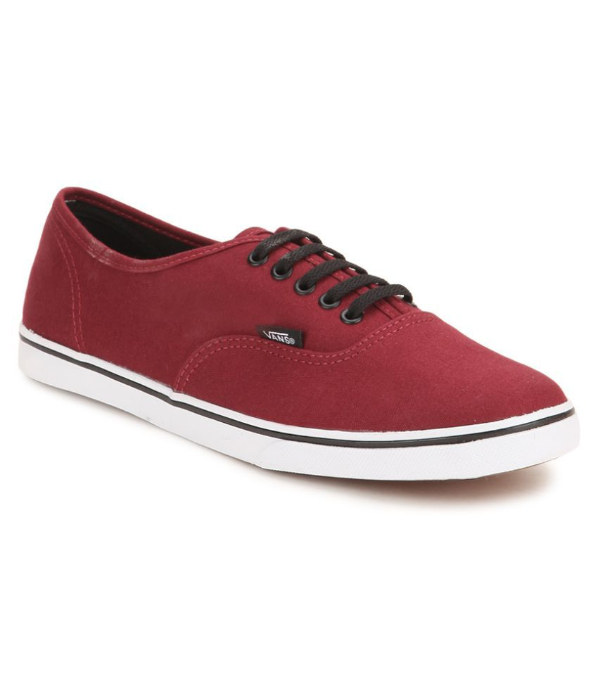 c3d8ae5fb0 Vans Authentic Lo Pro Sneakers Maroon Casual Shoes - Buy Vans Authentic Lo  Pro Sneakers Maroon Casual Shoes Online at Best Prices in India on Snapdeal