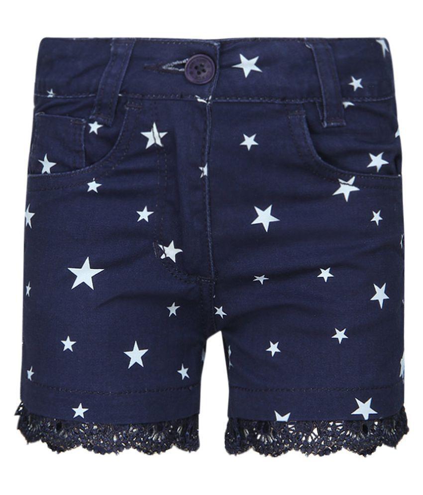 Chalk By Pantaloons Navy Cotton Spandex Shorts