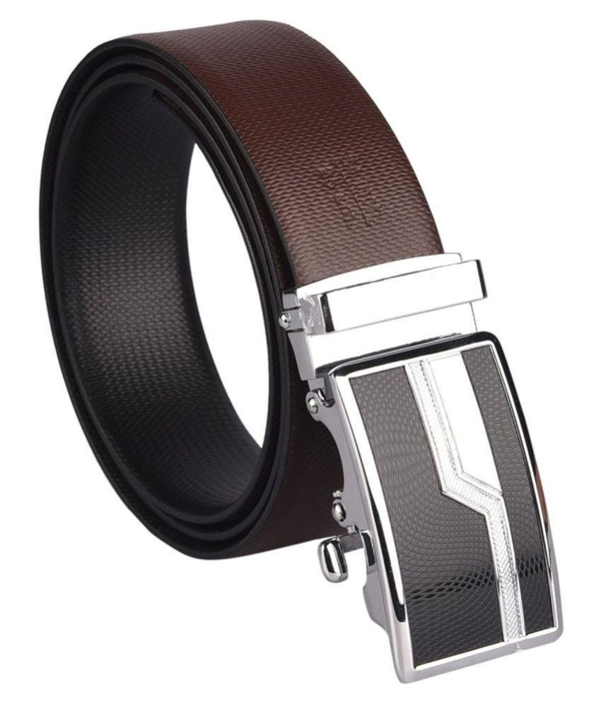 ACE Brown Leather Formal Belts