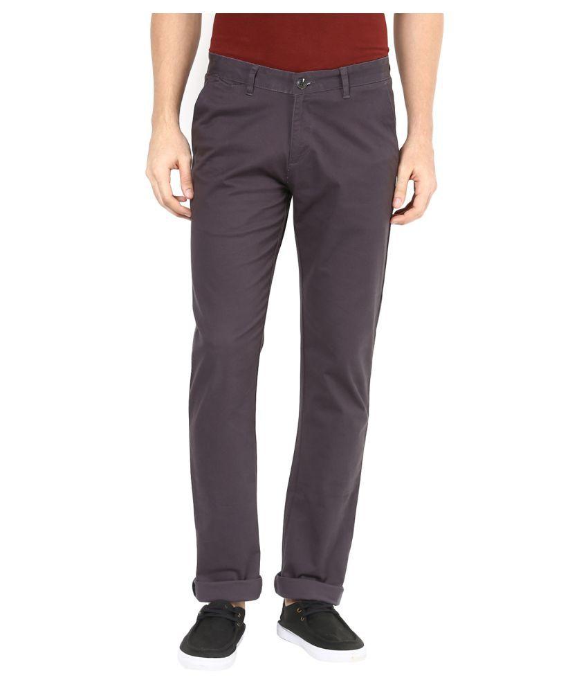 Sting Brown Slim Flat Trouser